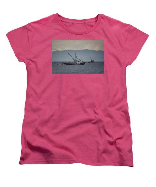 Viking Sunrise Women's T-Shirt (Standard Cut) by Randy Hall