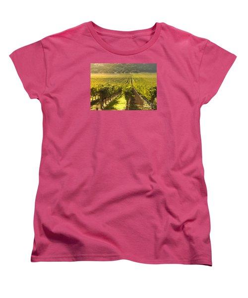 Vineyard In Napa Valley Women's T-Shirt (Standard Cut) by Diane Diederich