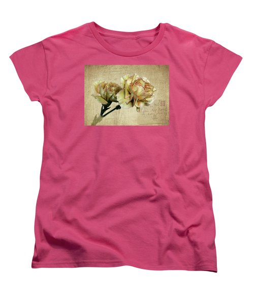 Vintage Carnations Women's T-Shirt (Standard Cut) by Judy Vincent
