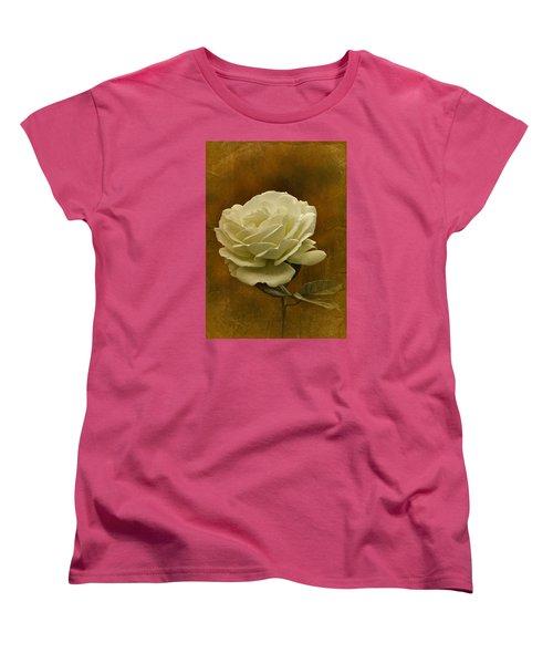 Vintage November White Rose Women's T-Shirt (Standard Cut) by Richard Cummings