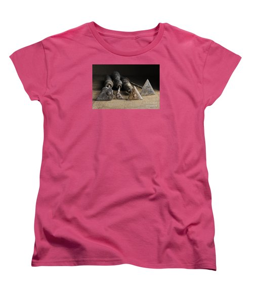 Women's T-Shirt (Standard Cut) featuring the photograph Vintage Paint Scrapers. by Trevor Chriss