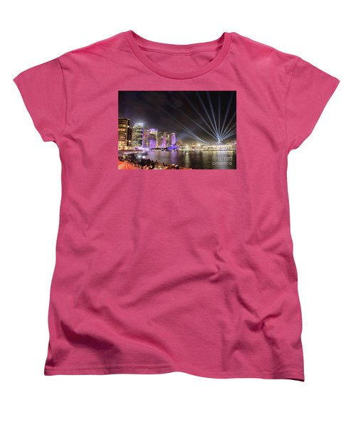 Vivid Sydney Skyline By Kaye Menner Women's T-Shirt (Standard Cut) by Kaye Menner