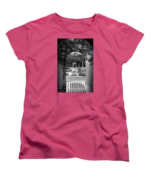 Vizcaya Garden Women's T-Shirt (Standard Cut) by Edgar Torres