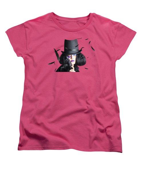 Vogue Woman In Black Costume Women's T-Shirt (Standard Cut)