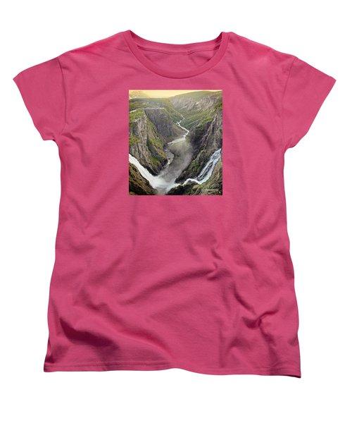 Voringsfossen Waterfall And Canyon Women's T-Shirt (Standard Cut)