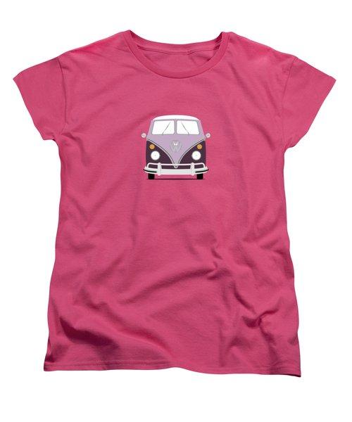 Vw Bus Purple Women's T-Shirt (Standard Cut) by Mark Rogan