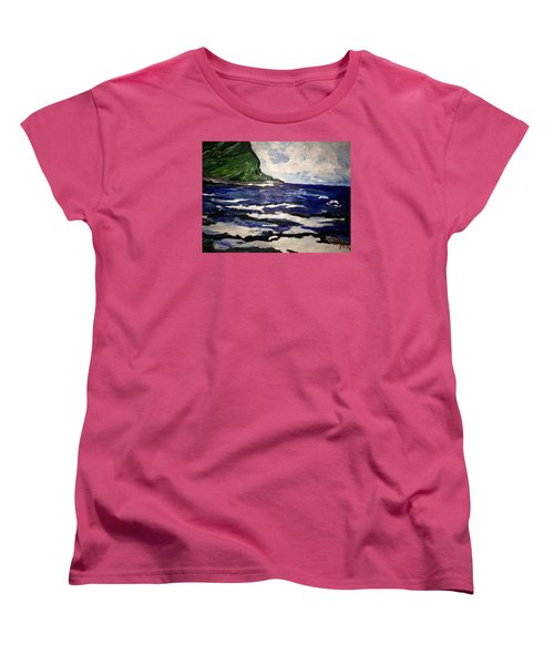 Waipio Valley  Beach Women's T-Shirt (Standard Cut)