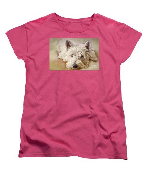 Waiting For Papa Women's T-Shirt (Standard Cut) by Jean OKeeffe Macro Abundance Art