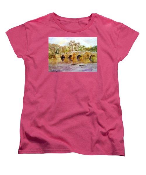 Wales Dipping Bridge Women's T-Shirt (Standard Cut) by Larry Hamilton