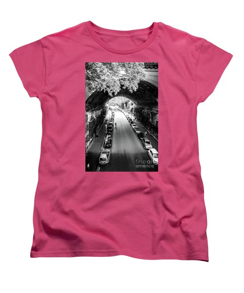 Women's T-Shirt (Standard Cut) featuring the photograph Walk The Tunnel by Perry Webster