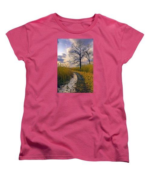Walk With Me Women's T-Shirt (Standard Cut) by John Rivera
