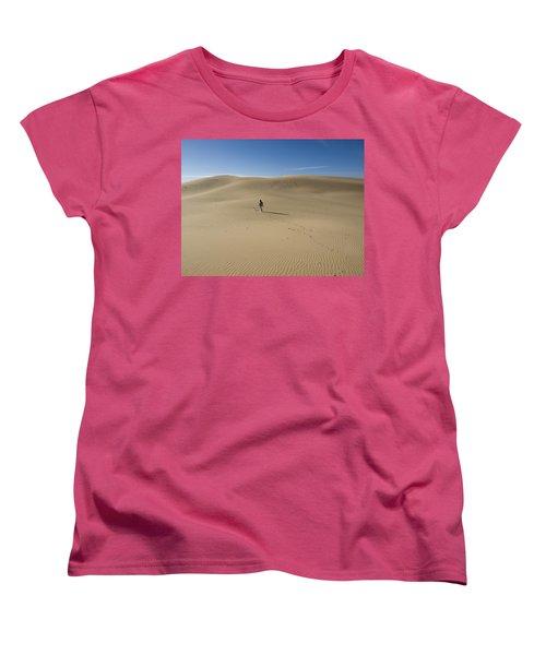 Walking On The Sand Women's T-Shirt (Standard Cut) by Tara Lynn