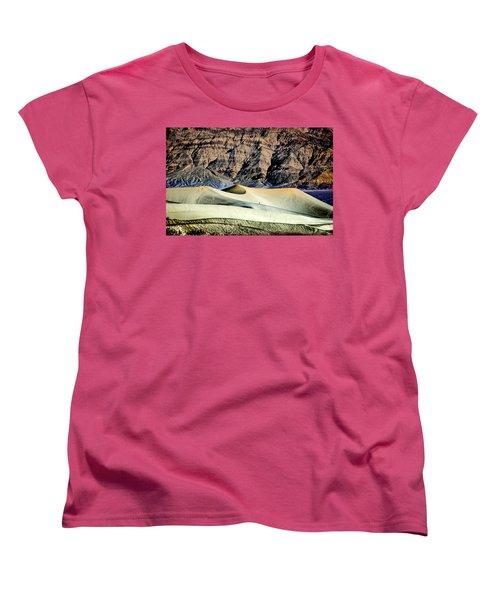 Walking The Dunes In Death Valley Women's T-Shirt (Standard Cut) by Janis Knight