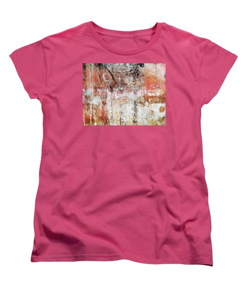 Women's T-Shirt (Standard Cut) featuring the photograph Wall Abstract  183 by Maria Huntley