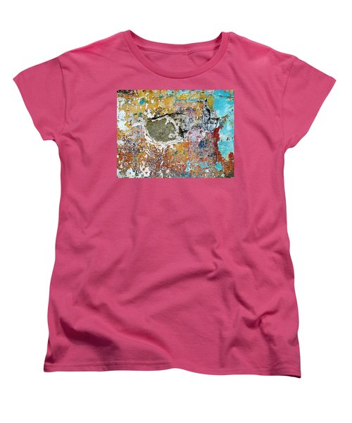 Women's T-Shirt (Standard Cut) featuring the photograph Wall Abstract 196 by Maria Huntley