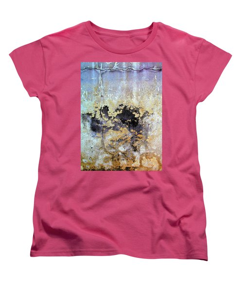 Women's T-Shirt (Standard Cut) featuring the photograph Wall Abstract 68 by Maria Huntley