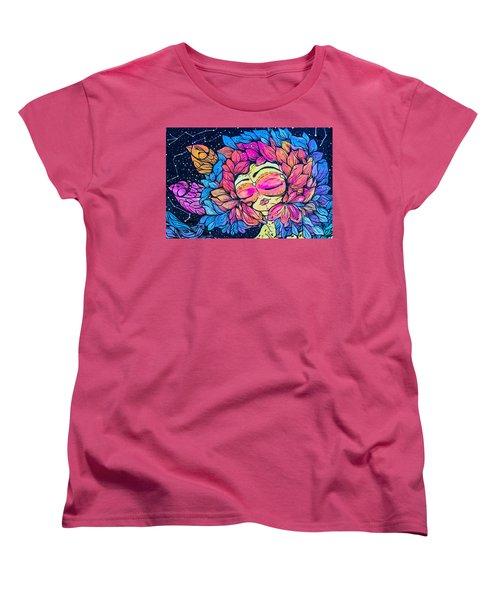 Women's T-Shirt (Standard Cut) featuring the photograph Wall Flowers by Colleen Kammerer