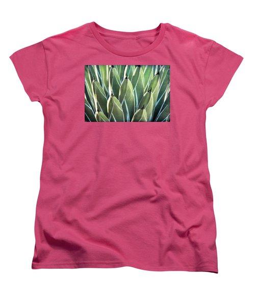Women's T-Shirt (Standard Cut) featuring the photograph Wall Of Agave  by Saija Lehtonen