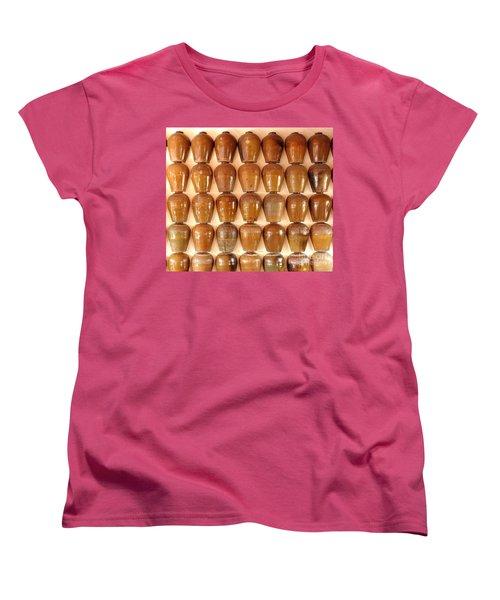 Wall Of Ceramic Jugs Women's T-Shirt (Standard Cut) by Yali Shi