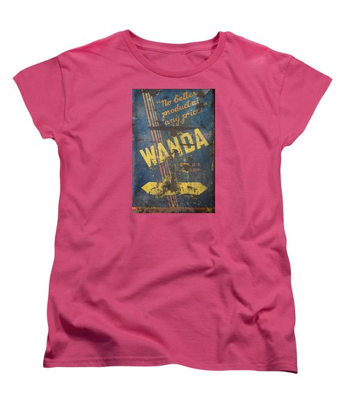 Wanda Motor Oil Vintage Sign Women's T-Shirt (Standard Cut) by Christina Lihani