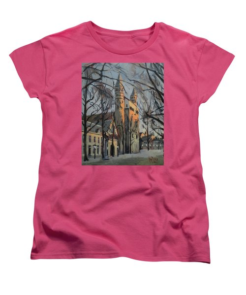 Warm Winterlight Olv Plein Women's T-Shirt (Standard Fit)