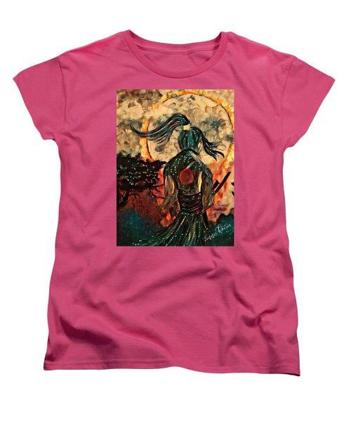 Warrior Moon Women's T-Shirt (Standard Cut) by Vennie Kocsis
