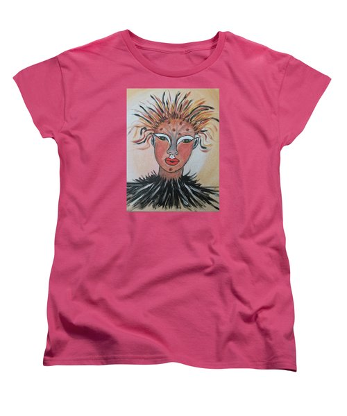 Women's T-Shirt (Standard Cut) featuring the painting Warrior Woman  #3 by Sharyn Winters