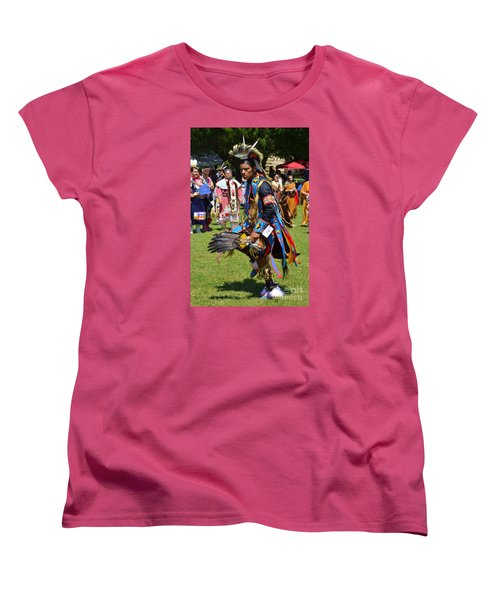 Women's T-Shirt (Standard Cut) featuring the photograph Warriors Dance by Lew Davis