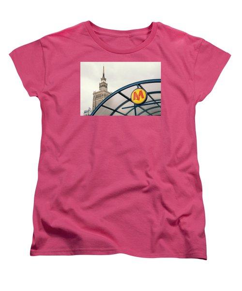 Women's T-Shirt (Standard Cut) featuring the photograph Warsaw by Chevy Fleet