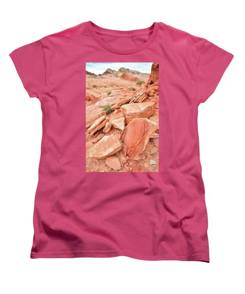 Women's T-Shirt (Standard Cut) featuring the photograph Wash 4 Color In Valley Of Fire by Ray Mathis