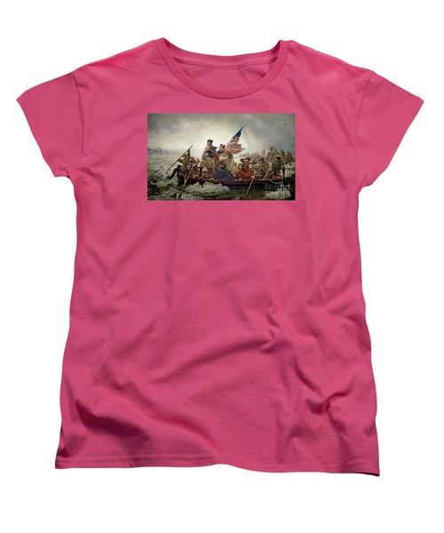 Washington Crossing The Delaware River Women's T-Shirt (Standard Cut)