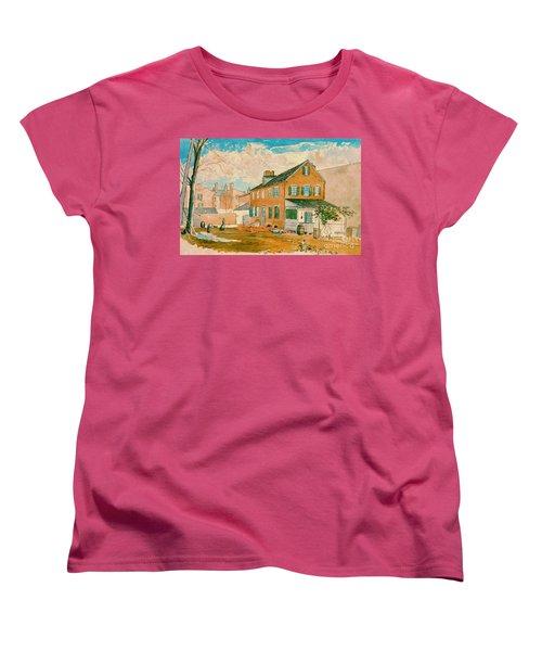Washington D.c. Square 1874 Women's T-Shirt (Standard Cut) by Padre Art