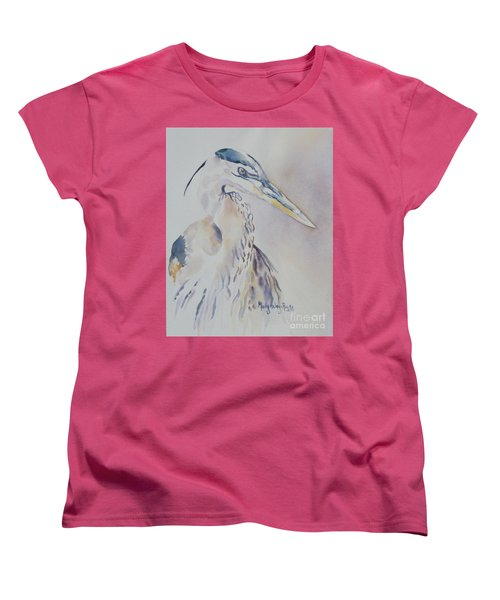 Women's T-Shirt (Standard Cut) featuring the painting Watching by Mary Haley-Rocks