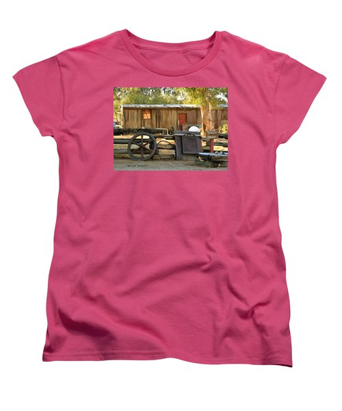Women's T-Shirt (Standard Cut) featuring the photograph Water Draw At Hotel Nipton California Detail by Floyd Snyder