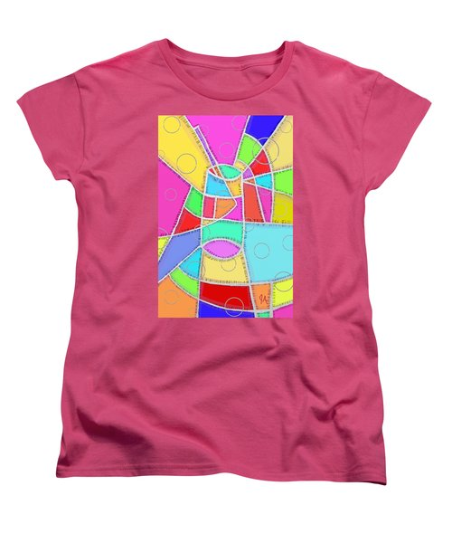 Water Glass Of Light And Color Women's T-Shirt (Standard Cut) by Jeremy Aiyadurai