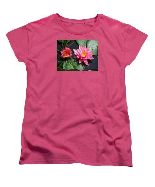 Women's T-Shirt (Standard Cut) featuring the photograph Water Lilies by Joy Nichols