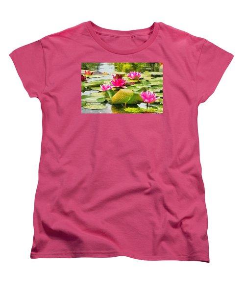 Water Lilies Women's T-Shirt (Standard Cut) by Maciek Froncisz