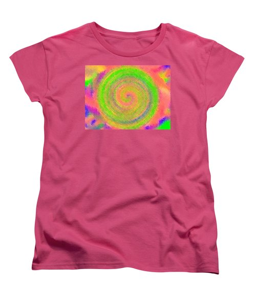 Women's T-Shirt (Standard Cut) featuring the digital art Water Melon Whirls by Catherine Lott