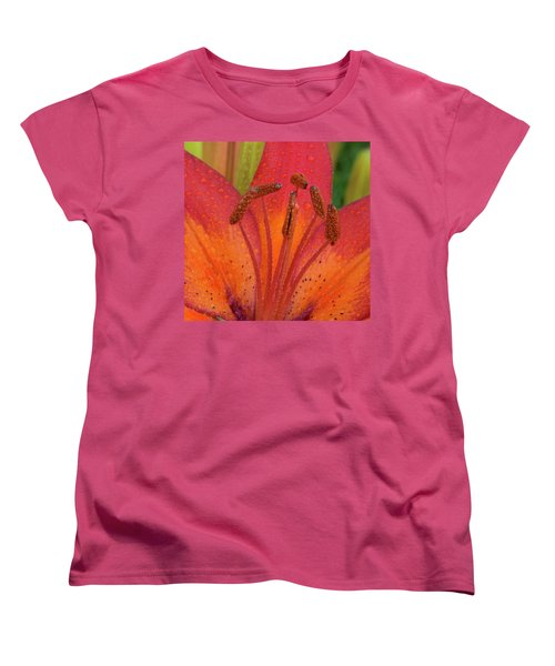 Women's T-Shirt (Standard Cut) featuring the photograph Watered Lily by Jean Noren