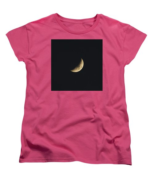 Waxing Crescent Spring 2017 Women's T-Shirt (Standard Cut) by Jason Coward