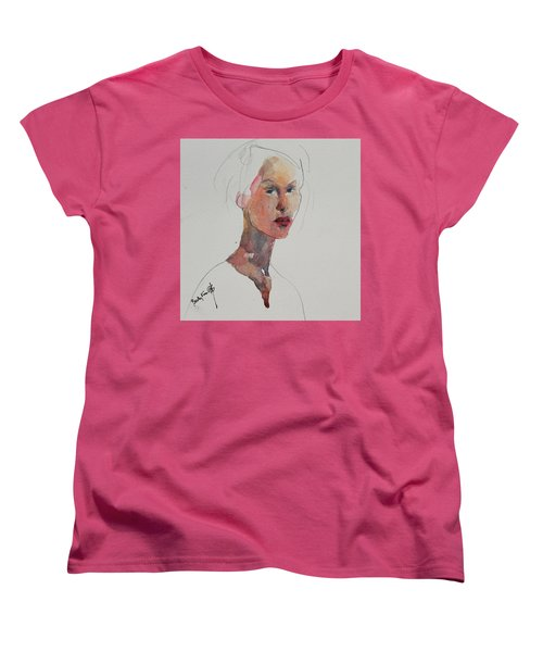 Women's T-Shirt (Standard Cut) featuring the painting Wc Mini Portrait 2 by Becky Kim