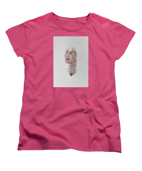 Women's T-Shirt (Standard Cut) featuring the painting Wc Mini Portrait 9             by Becky Kim
