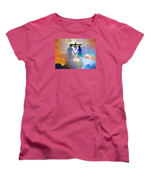 Women's T-Shirt (Standard Cut) featuring the painting We Are God's Masterpiece by Wayne Pascall