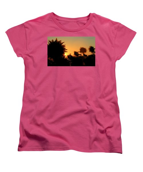 Women's T-Shirt (Standard Cut) featuring the photograph We Are Sunflowers by Chris Berry