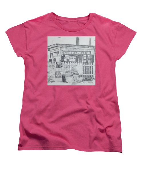 We Clean Fish Women's T-Shirt (Standard Cut) by Stan Tenney