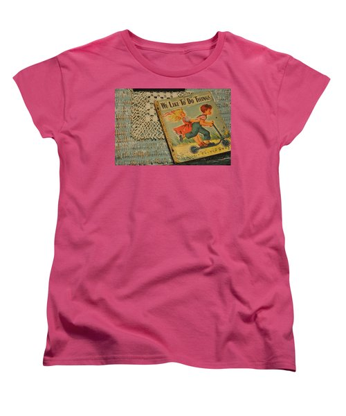 Women's T-Shirt (Standard Cut) featuring the photograph We Like To Do Things by Jan Amiss Photography