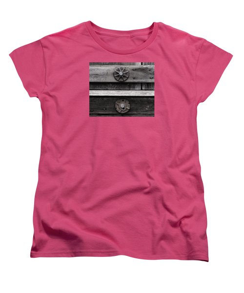 Weathered Wood And Metal Five Women's T-Shirt (Standard Cut) by Kandy Hurley