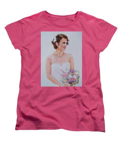 Women's T-Shirt (Standard Cut) featuring the mixed media Wedding Day by Constance DRESCHER