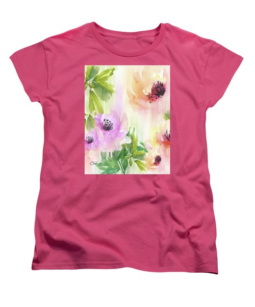 Women's T-Shirt (Standard Cut) featuring the painting Weeping Rose Forest by Colleen Taylor