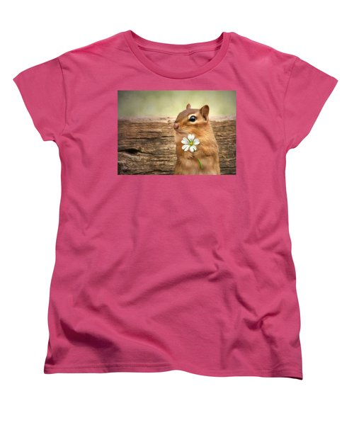 Women's T-Shirt (Standard Cut) featuring the photograph Welcome Spring by Lori Deiter